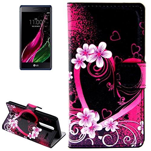 JIALUN- Telefonschutz Fall Für LG Klasse / LG Zero Schmetterlinge Liebe Blumen Muster Horizontale Flip Leder Tasche mit Card Slots und Halter und kann unterstützen Langlebig und modisch ( SKU : S-MLC-8765N ) (Wallet Card Klasse)