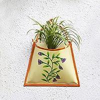 Decorativo secchio di metallo fioriere vasi pensili planter stand con maniglia per esterno dell'interno usa giardinaggio domestico decor accessori