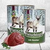 Bild: DOGREFORM Fleischtopf mit Rentier Fleisch 3 x 820g das Dosenfutter auch für empfindliche Hunde das Nassfutter ist glutenfrei und getreidefrei besonders schmackhaft und extrem gut verträglich