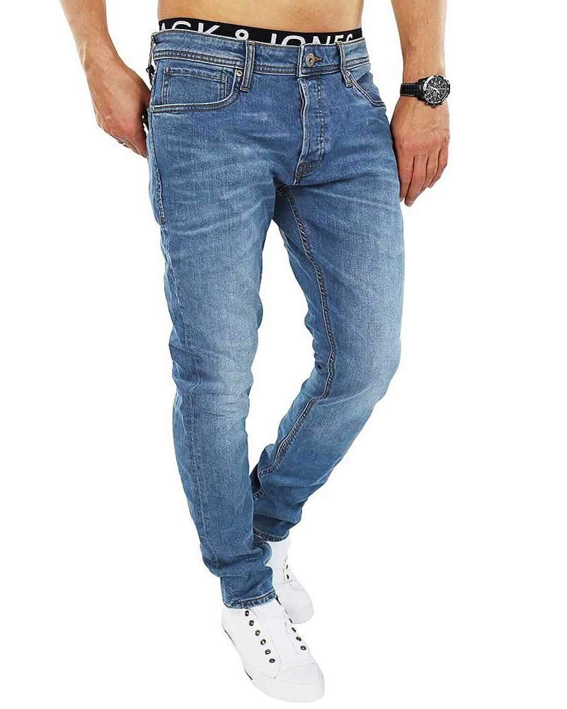 Jack and Jones Herren Slim Fit Jeans Denim Used Look
