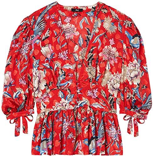 FIND Damen Kimono-Bluse  Mehrfarbig (Multicoloured MPR 301), 38 (Herstellergröße: Medium)
