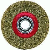Bellota 50810-15018 - Cepillo industrial circular (acero latonado, longitud alambre 18 mm, diámetro 150 mm)