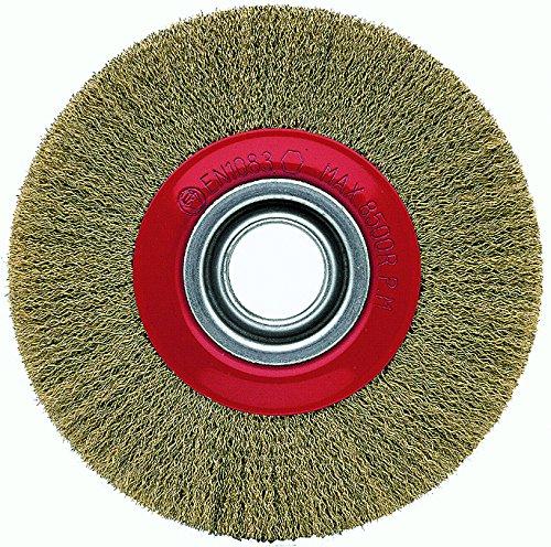Bellota 50810-20025 Brosse circulaire industrielle Acier laitonné Longueur du fil 25 mm Diamètre 200 mm