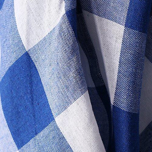 MagiDeal Abiti Vestiti Tasche Laterali Gonna Senza Maniche Camicie Casuale per Donna Ragazze Blu