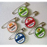 5 Soda Bottle Cap Pins Inspired by Up Set #2