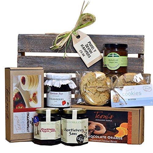 PURELY DEVON HAMPERS - Cookies and jams hamper get well soon gift