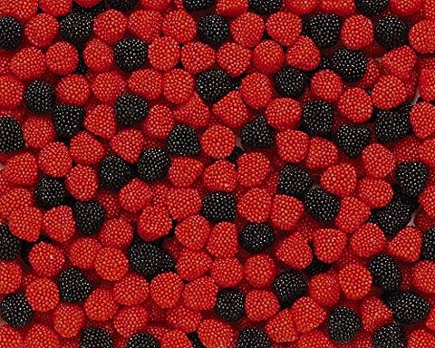 Haribo Berries, 3kg, caoutchouc-Babyours-Vin en caoutchouc, Fruit caoutchouc en sachet,