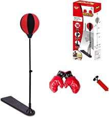 Emob Indoor and Outdoor Can Be Use Play Standing Boxing Set with Punching Ball and Gloves for Kids