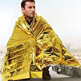 Rettungsdecke, Rettungsfolie, Notfalldecke, Erste- Hilfe- Decke, gold/ silber 5 Stück -