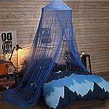 Jeteven Moustiquaire Dôme Polyester Ciel de Lit Princesse Moustiquaire Bébé Étoile Décor Lit Hauteur 250cm