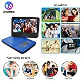 from WONNIE WONNIE 10.5 Portable DVD Player with 270 Swivel Screen Built-in Rechargeable Battery SD Card and USB, Direct Play in Formats AVI/MP3/JPEG/RMVB (10.5, Blue) Model WN-UK1038BL