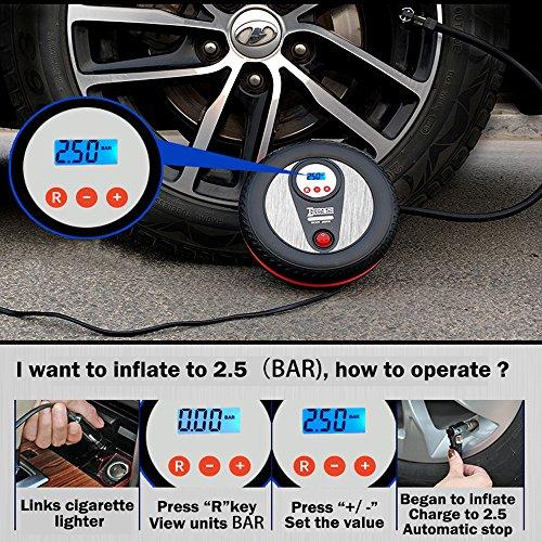 Auto Sport SPTA 170PSI Manometro Pressione Pneumatici Manometro Gonfiatore Pistola Manometro Compressore Gonfiaggio Gomme con Tubo in Gomma e Attacco rapido per dually Camion Bici