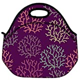 Snoogg Seamless Pattern With Leaf Seamless Texture Can Be Used For Wallpaper Travel Outdoor Carry Lunch Bag Picnic Tote Box Container Zip Out Removable Carry Lunchbox Handle Tote Lunch Bag Food Bag For School Work Office