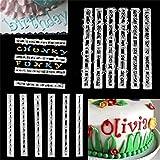 HENGSONG Kunststoff Buchstaben Zahlen Ausstecher Ausstechform Tortendeko Fondant Kuchen Marzipan Backen Stempel Embosser Set