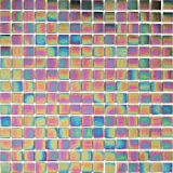 32x32cm Irisierende Vitreous Glas Mosaik Fliesen Matte in Schimmerndes Dunkel Lila (MT0141)