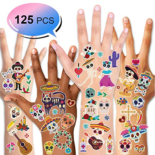 Konsait Halloween Temporäre Tattoos kinder Mexican Tag