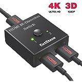 DotStone HDMI Switch Bidirektionaler HDMI Umschalter 2 Input to 1 Output oder 1 Input to 2 Output HDMI Verteiler Manuell Umschaltung Unterstützt Ultra HD 4K 1080p