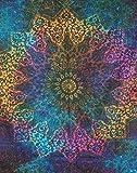 L'Art Box Twin Blanc Drapeau indien Mandala Coton Tapisserie hippie Couvre-lit Dortoir Tapisserie murale décorative à suspendre pique-nique Plage Sheet tapisseries Bohème Couvre-lit en