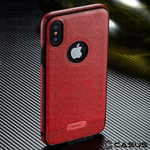 Hülle + Folie + Kappe Luxus PU Leder Rückseite und Seite Grip Passend für Apple iPhone 6Plus/6S Plus Gefertigt mit Exquisite Qualität und Geschmack Ultra Dünn Weich TPU Zum Aufstecken-Rot - Phones Plus Sprint Cell Iphone 6