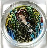 Deko Briefbeschwerer, Glas, Handbemalt, Design Madonna