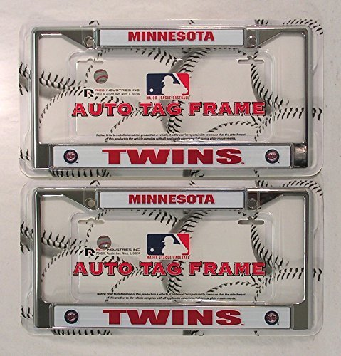 Minnesota Twins Chrome License Plate Frame – Set of 2 by Rico