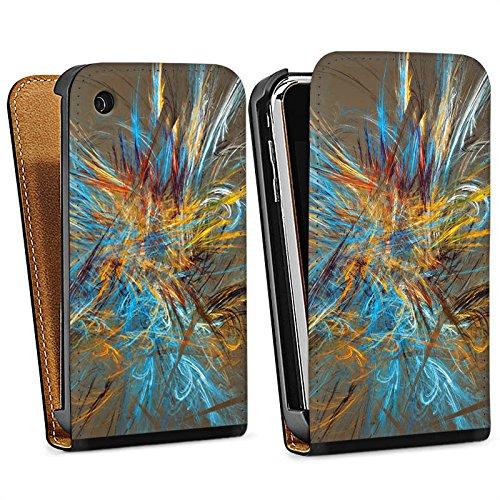 Apple iPhone 4 Housse Étui Silicone Coque Protection Motif Motif Abstrait Sac Downflip noir