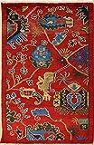 RugsTC 79 x 124 Chobi Ziegler Tapis fabriqué avec des teitures végétaux avec Pile de Laine | 100% Noué à la Main Authentique en Rouge, Bleu, Couleurs Vert | Double nouéd catégorie 76 x 122...