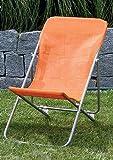 Liegestuhl für Kinder Gartenstuhl Liege Strandliege orange
