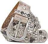 styleBREAKER raffinata cintura borchiata vintage, diverse borchie e strass, accorciabile, donna 03010053, colore:95cm, colore:Antico-Beige