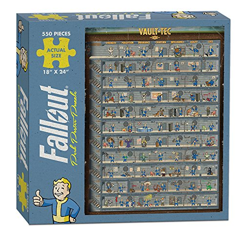 USAopoly Fallout Perk Chart Patrol Puzzle (550 Piece - 18x24)