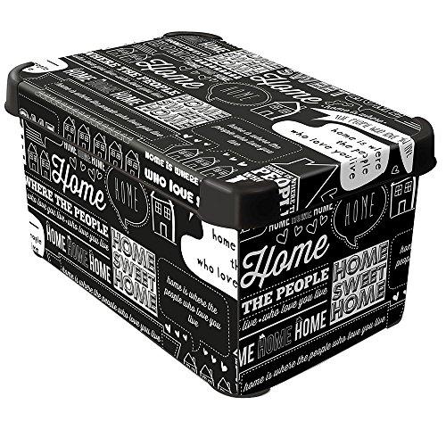 CURVER 22 litros pl/ástico Stockholm Deco dise/ño de b/úhos Caja de almacenaje