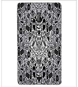 PrintDhaba Graffiti D-5528 Back Case Cover for MICROSOFT LUMIA 540 (Multi-Coloured)