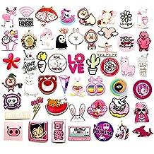 CRAZYON 50 PCS Sticker Pack Pink Graffiti Pegatinas vinilos Maleta monoPatín teléfono portátil
