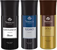Yardley London - Gentleman Classic, Elegance and Gold Deo for Men, 150ml (Pack of 3)