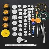 SPTwj Conjunto de Ruedas de Eje de Engranajes de plástico 78 Piezas Engranaje de Doble reducción Simple Gusano de Engranaje R