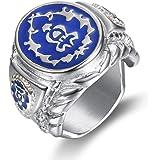 Sping Jewelry World of Warcraft Horde Dome Anillo de acero de titanio