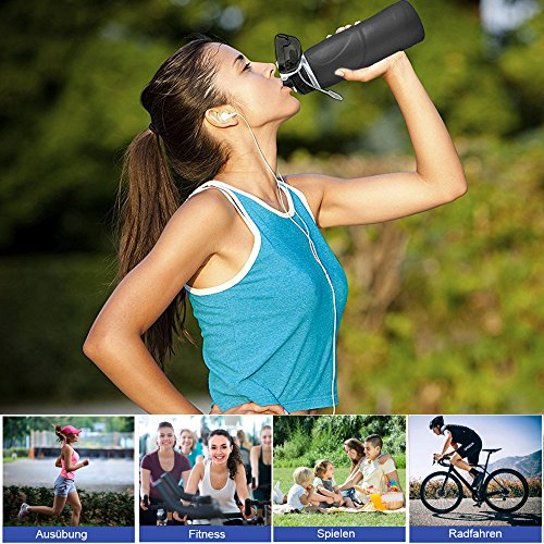 BeGreat faltbare Trinkflasche BPA-freie medizinisches Silikon Wasserflasche, tragbar, Auslaufsichere und FDA Geprüft für Outdoor, Reisen, Radfahren usw DE-0017