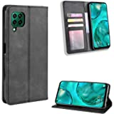 Flip Wallet Case Cover Compatible For Huawei Nova 7i 5G/Huawei Nova 6SE/Huawei P40 Lite,black