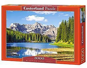 Castorland Misurina Lake, Italy 3000 pcs Puzzle - Rompecabezas (Italy 3000 pcs, Puzzle Rompecabezas, Paisaje, Niños y Adultos, Niño/niña, 9 año(s), Interior)