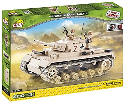 Cobi 2451 Panzer III ausf. J Small Army WWII German Medium Tank Building Bricks (400 Pieces)