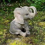 Mui Garten Dekor Elefanten Deko Figur Tierfigur Afrika Safari Steppe Dschungel Wildlife Elefant Garden Decor