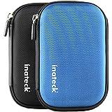 Inateck Universal Festplattentasche für 2,5 Zoll Festplatten und SSD/HDD, Hard Case erschütterungsfeste Schutzbox [Maße: 17cm x 11,5cm x 3cm, Farbe: Blau]