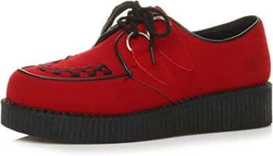 Ajvani Mens lace up Platform Shoes Teddy boy lace up Brothel Creepers Size.