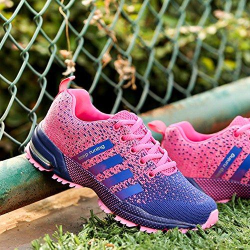 Chaussures de course running sport Compétition Trail entraînement homme femme basket ete baskets Noir Rouge bleu 35-46 Rose