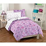 Dream Factory Purple Princess Hearts And Crowns Girls Comforter Set, Multi, Full by Dream Factory