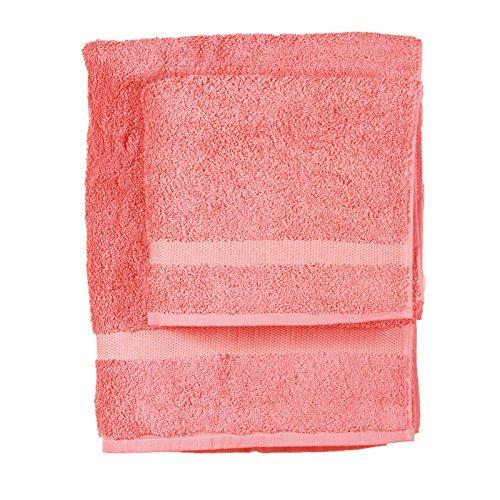 Asciugamano e ospite COGAL in spugna 650 grammi colore Corallo 056