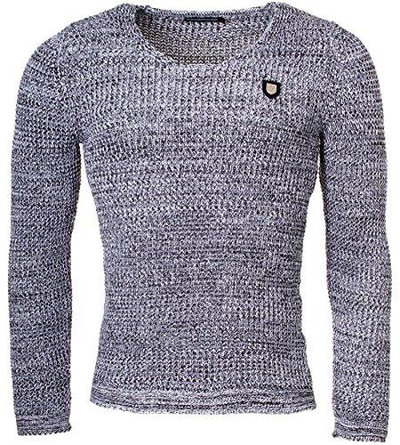 Redbridge - Pull - Slim - Uni - Manches Longues - Homme Noir - noir/blanc