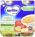Mellin Pappa Completa Verdure Pastina e Manzo - 12 Vasetti x 250 gr