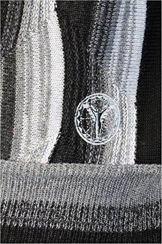 Carlo Colucci Herren Intarsien-Pullover in Merinowoll-Mix Schwarz / Grau