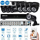 KKMOON 16CH Kanal Voll 960H/D1 800TVL CCTV ¨¹berwachung DVR HDMI P2P Onvif Digital Video Recorder + 4 * Indoor Dome-Kamera + 4 * Outdoor Wetterfest Bullet-Kamera + 8 * 60ft Kabel unterst¨¹tzt IR-CUT¡­